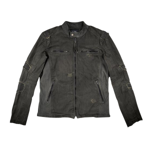 AFD Twill Sheep Olive Leather Jacket
