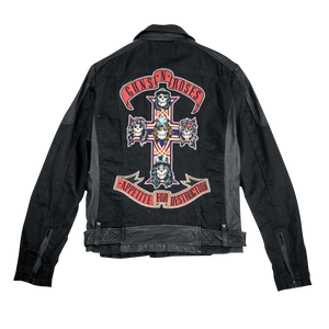 AFD Twill Sheep Black Leather Jacket