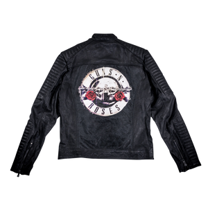 Bullet Logo Leather Blouson Jacket