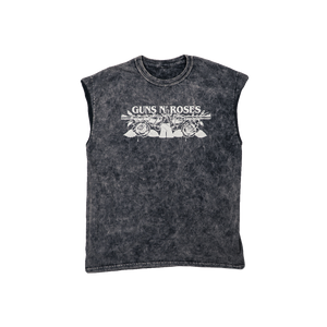 Black Washed GnR Muscle Tank