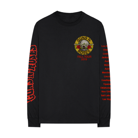 GN'R Bloody Bullet Black Long Sleeve T-Shirt