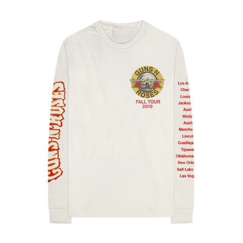 GN'R Bloody Bullet Natural Long Sleeve T-Shirt