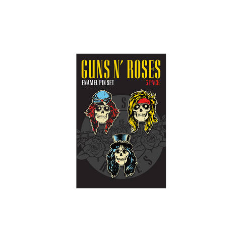 GN'R Skull Enamel Pin Set