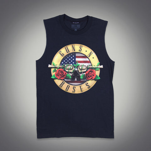 Red White & Blue Bullet Seal Muscle Tank