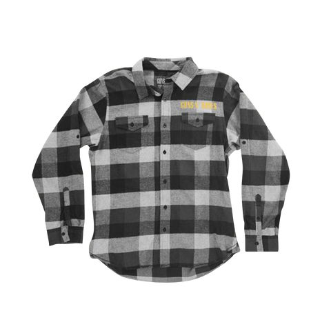Black And White Logo Flannel