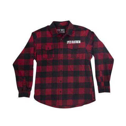 Red And Black Cross Flannel