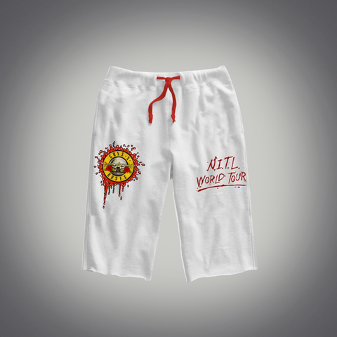 Bloody Bullet White Shorts
