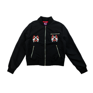 GnR Maxfield Black Ladies Fit Bomber Jacket