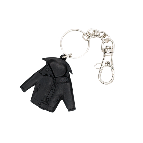 GnR Maxfield Black Leather Jacket Keychain