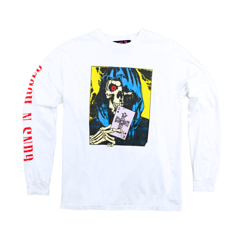 GN'R Maxfield White Skull Long Sleeve Shirt