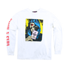 GnR Maxfield White Skull Long Sleeve Shirt