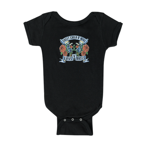 Sweet Child Banners and Pistols Onesie