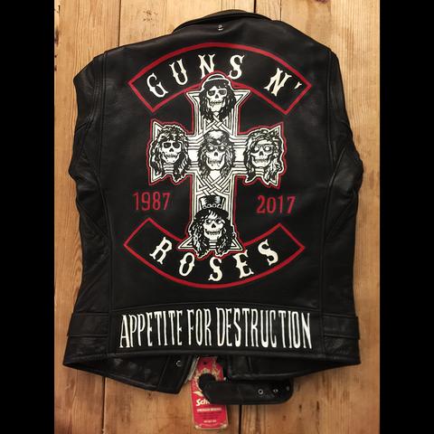 Hand Painted Customizable Leather Schott Jacket