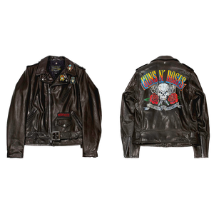 Limited Hand Painted Skull & Roses Schott Leather Jacket