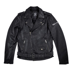 Skull Leather Biker Jacket