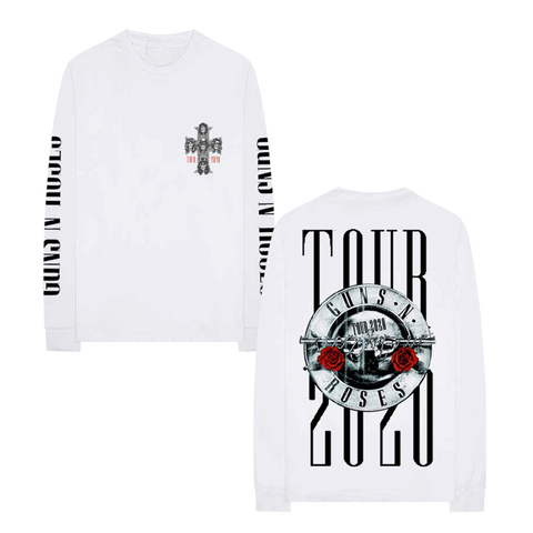White 2020 Tour Long Sleeve T-Shirt