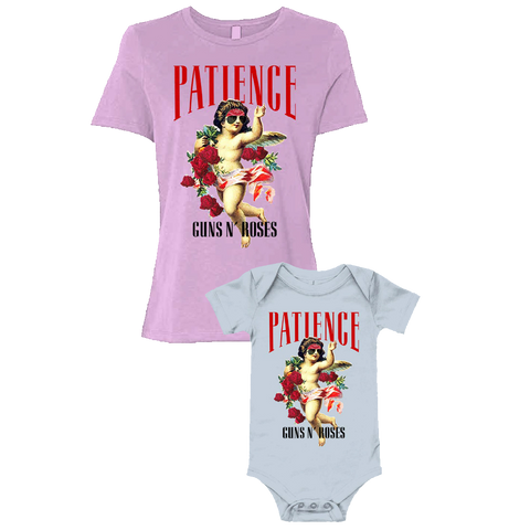 Floral Patience Ladies T-Shirt & Baby Onesie