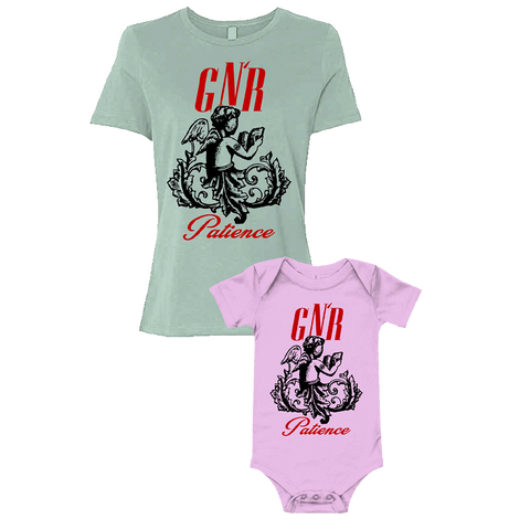 Patience Silhouette Ladies T-Shirt & Baby Onesie Bundle