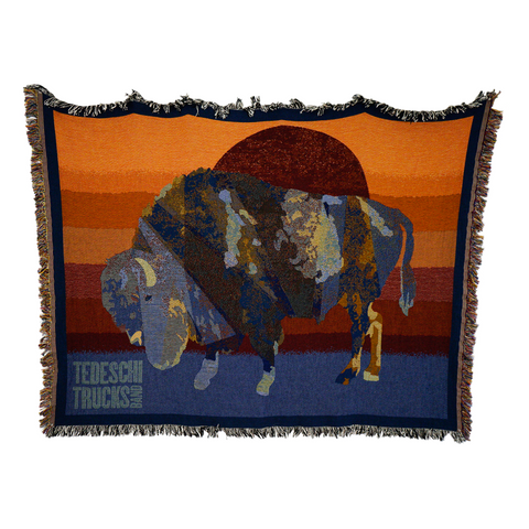Buffalo Sun Tapestry Throw Blanket