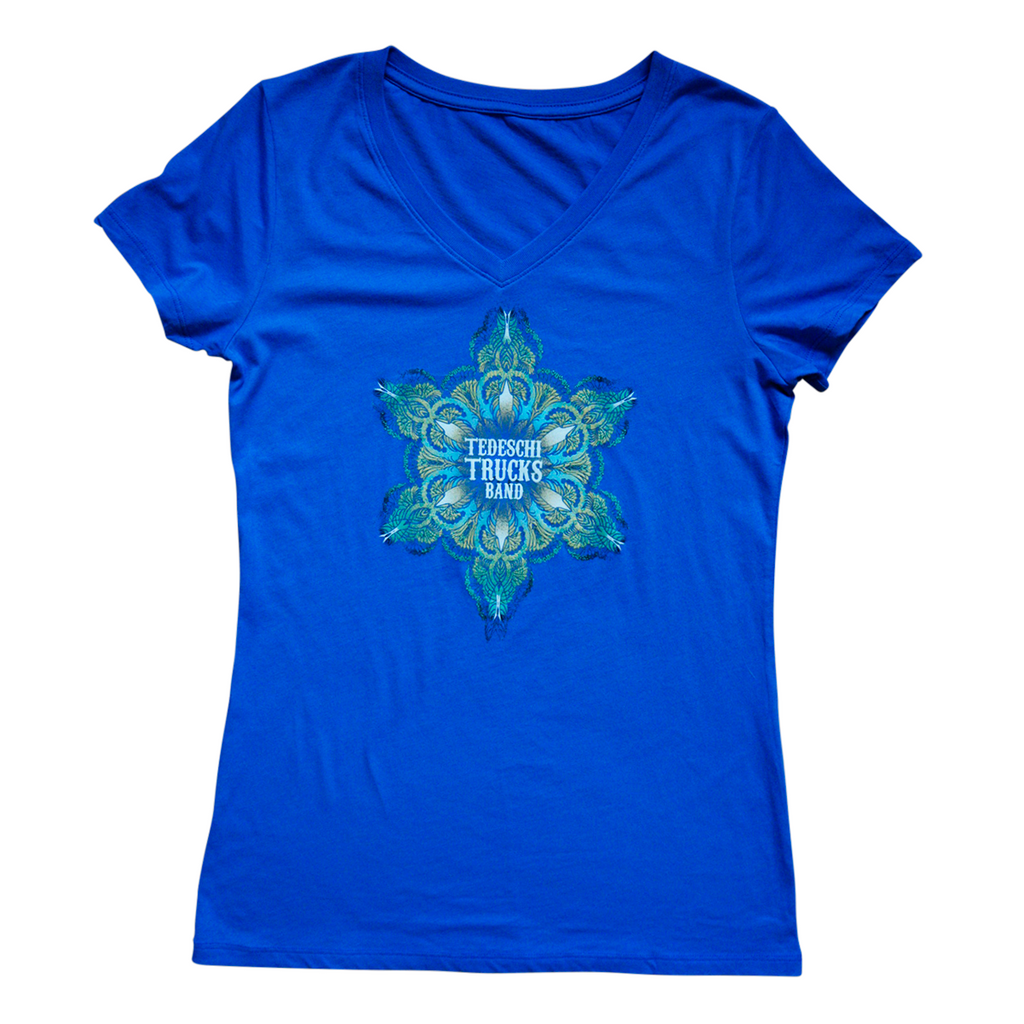 Ladies Mandala V-Neck T-Shirt