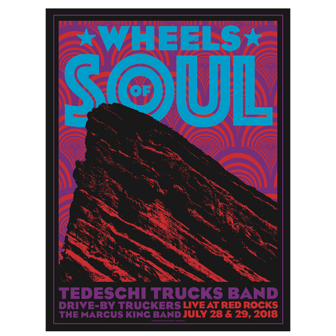 2018 Red Rocks Show Poster