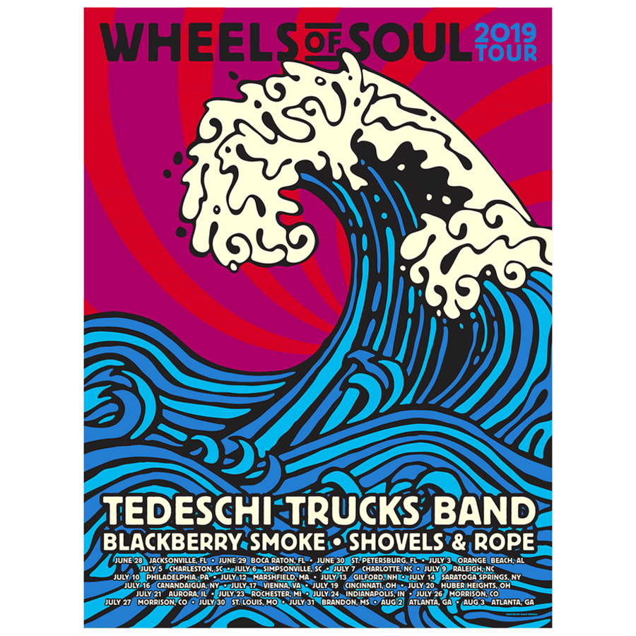 2019 Wheels of Soul Tour Poster