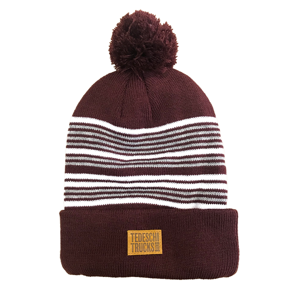 TTB - PomPom Beanie with Leather Tag