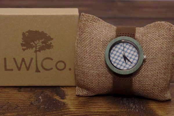 A Checkered Past Wood Watch - Leather And Wood Co.