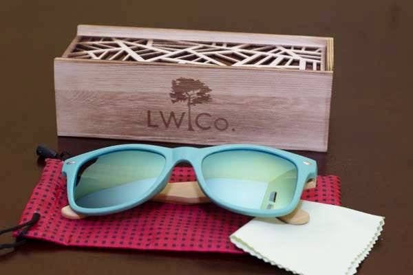 Catching A Wave Wood Sunglasses - Leather And Wood Co.