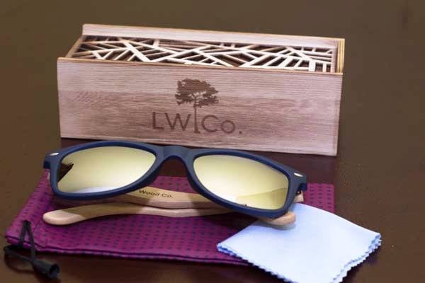 Rising Tide Wood Sunglasses - Leather And Wood Co.