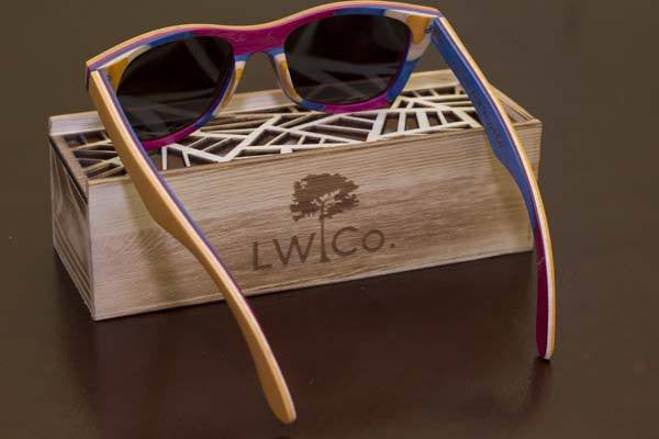 Setting Sun Wood Sunglasses - Leather And Wood Co.