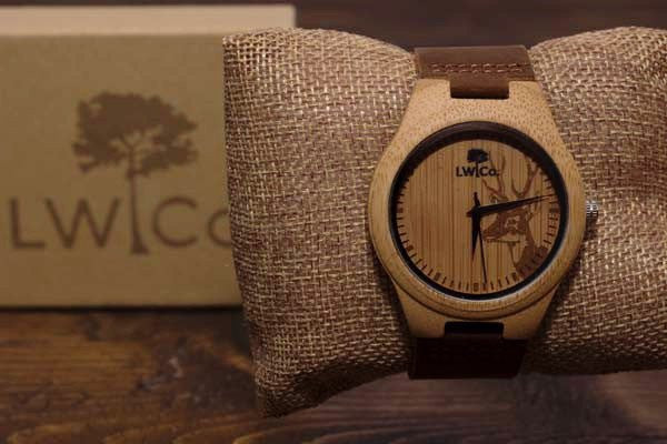 The Buck Wood Watch - Leather And Wood Co.
