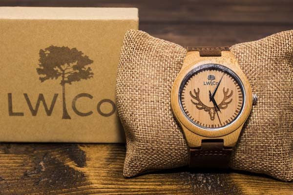 The Elk Wood Watch - Leather And Wood Co.