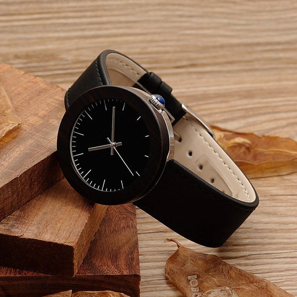 Little Black Dress Wood Watch - Leather And Wood Co.