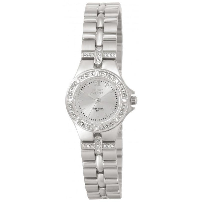 Invicta Women's 0132 Wildflower Quartz 3 Hand Silver Dial Watch
