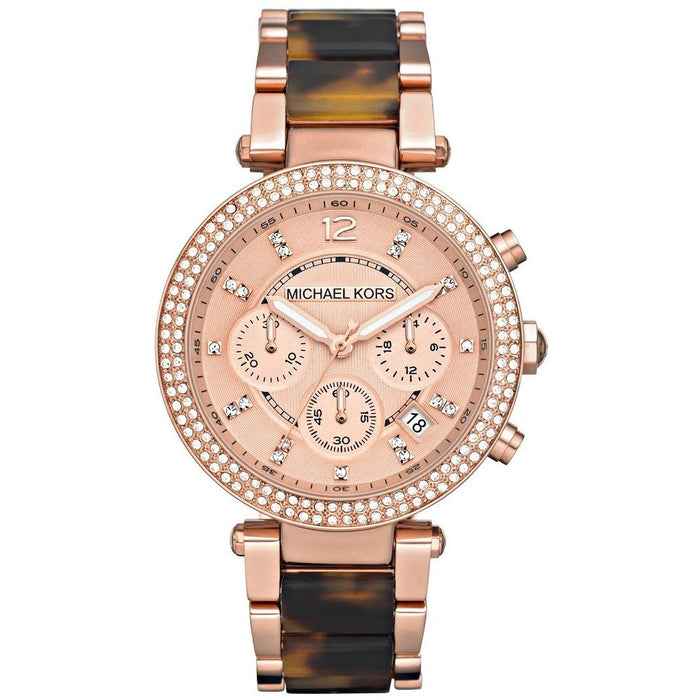 4286475a6244 Michael Women s Watch Parker Brown Crystal-Accented MK5538 ...