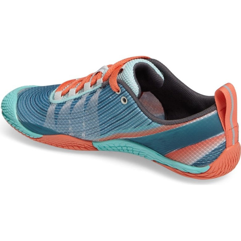 Merrell Vapor Glove 2 Trail Running Shoe SEA BLUE/ CORAL