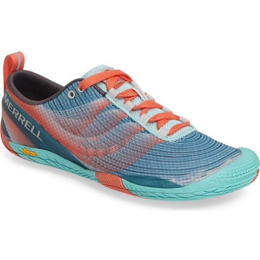 Merrell Vapor Glove 2 Trail Running Shoe SEA BLUE/ CORAL - J03916