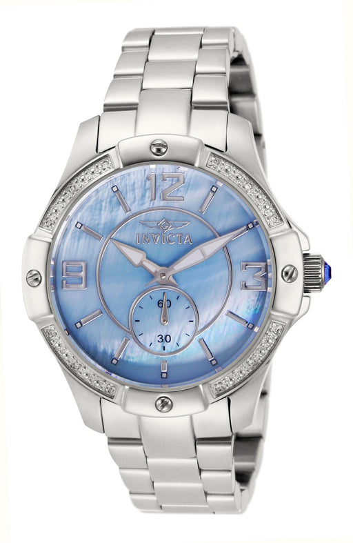 Invicta Women's 10218 Angel Quartz 3 Hand Light Blue Dial Watch