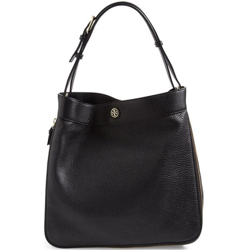 Tory Burch Robinson Hobo Bag Black Leather