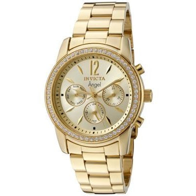Invicta Women's 11770 Angel Quartz Chronograph Gold Dial Watch