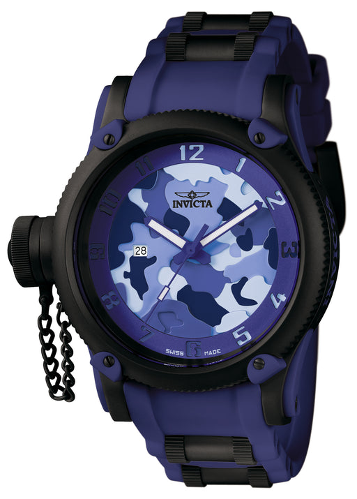 Invicta Men's 1196 Russian Diver Quartz 3 Hand Blue, Light Blue, Navy Blue Dial Watch