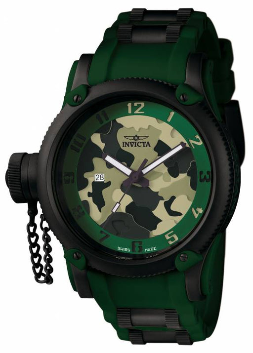 Invicta Men's 1197 Russian Diver Quartz 3 Hand Green, Light Green Dial Watch