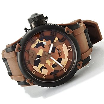 Invicta Men's 1198 Russian Diver Quartz 3 Hand Brown, Light Brown, Black Dial Watch