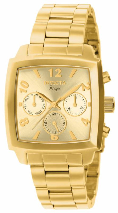 Invicta Women's 12101 Angel Quartz Chronograph Gold Dial Watch