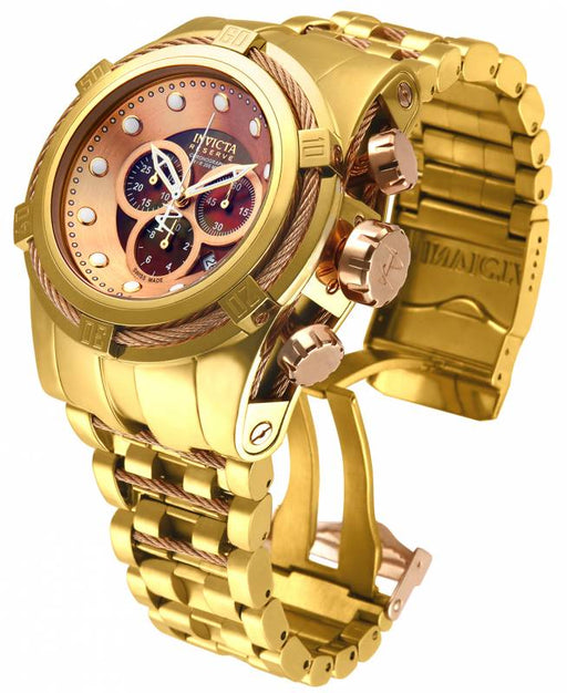 Invicta Men's 12739 Reserve Quartz Chronograph Brown, Rose Gold Dial Watch