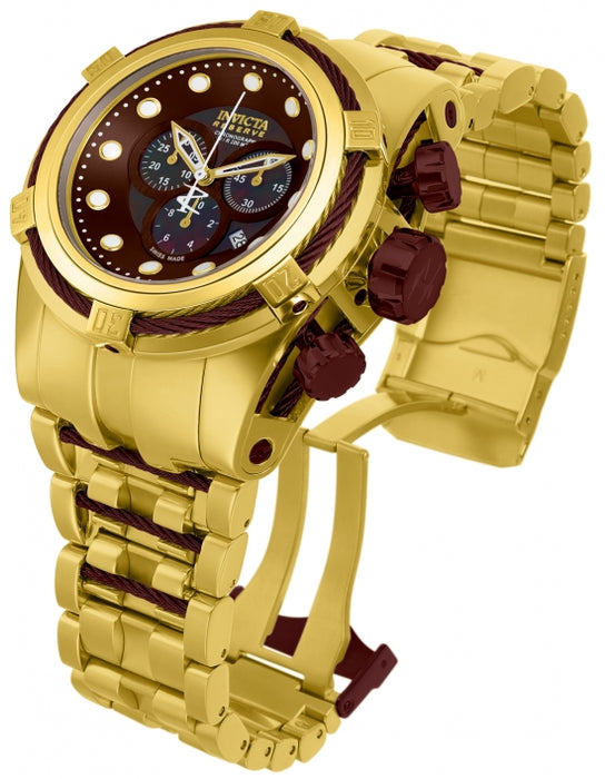 Invicta Men's 12740 Reserve Quartz Chronograph Brown Dial Watch