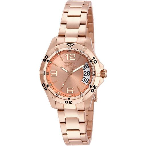 Invicta Women's Specialty Quartz 3 Hand Rose Gold Dial Watch 15120