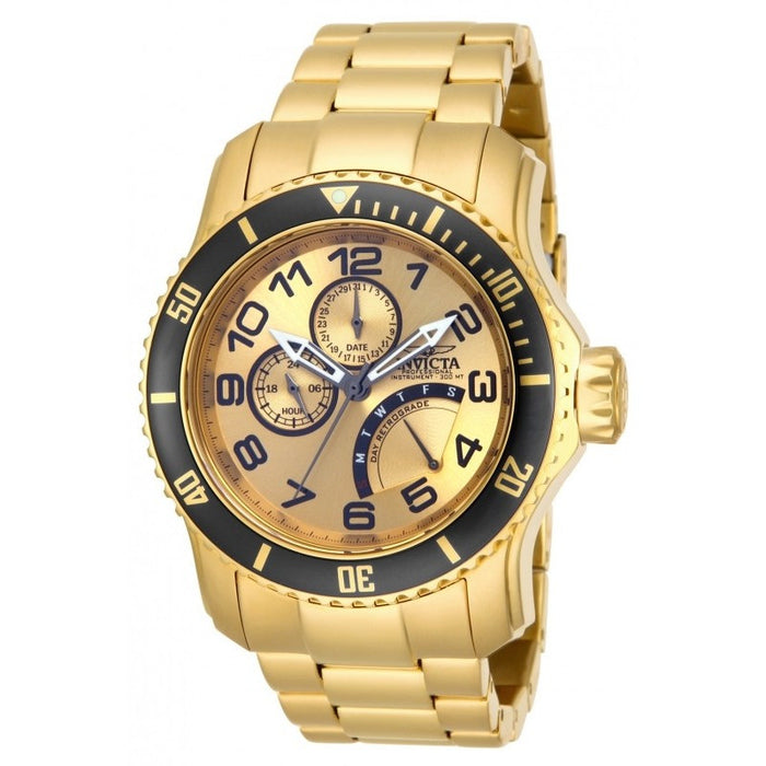 Invicta Men's 15343 Pro Diver Quartz Multifunction Gold Dial Watch