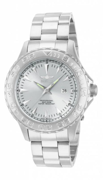 Invicta Men's 15465 Pro Diver Quartz 3 Hand Silver Dial Watch